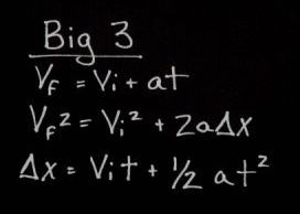 Big 3 equations